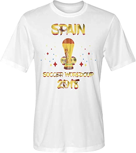 Soccer Fans Worldwide España 2018 World - Camiseta de fútbol, XL, Blanco: Amazon.es: Deportes y aire libre