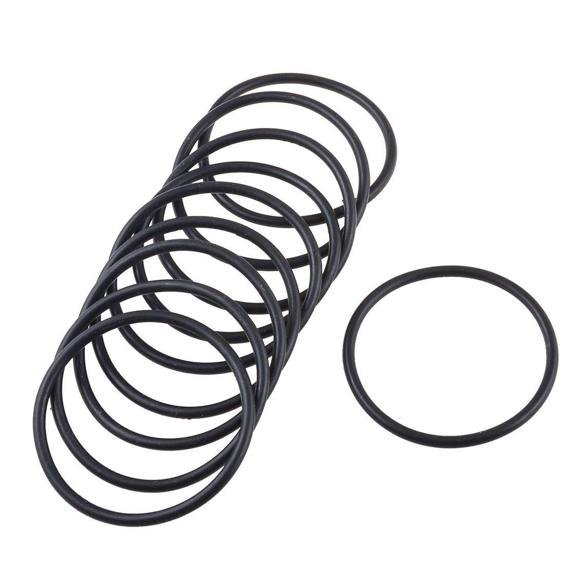 10 Pcs 53mm x 3mm Black Rubber Oil Seal O Ring Sealing Gasket Washers