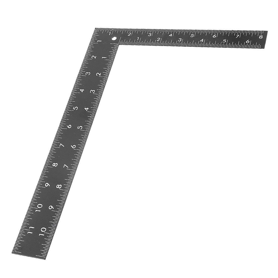 "30CM 12 /""Stahl Edelstahl TOOL metrische Metall Lineal Messung doppelseitig ZP"