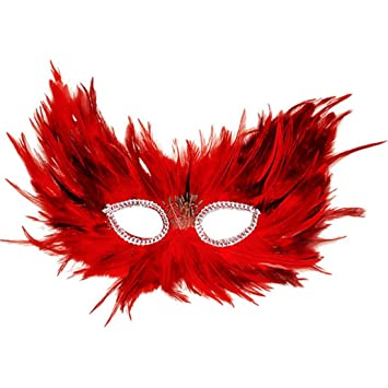 MASQUERADE FEATHER OWL BIRD EYE MASK mens womens fancy dress accessory