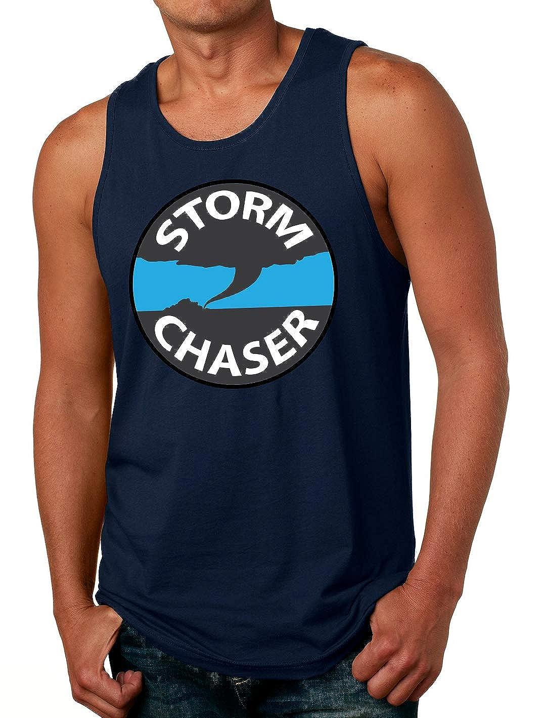 Tenacitee Mens Storm Chaser Badge T-Shirt
