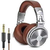 Auriculares para DJ OneOdio, auriculares de estudio, auricular sobre la oreja, auriculares estéreo de alta calidad con cable con micrófono, auriculares cómodos plegables con orejeras proteínas