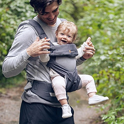 Ergobaby Carrier, 360 All Carry Positions Baby Carrier with Cool Air Mesh, Carbon Grey by Ergobaby (Image #6)