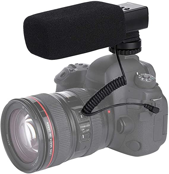Mugast MIC-02 Interview Mic,Photography Microphone with X-Y Stereo Pickup Technology for Video DSLR DVR