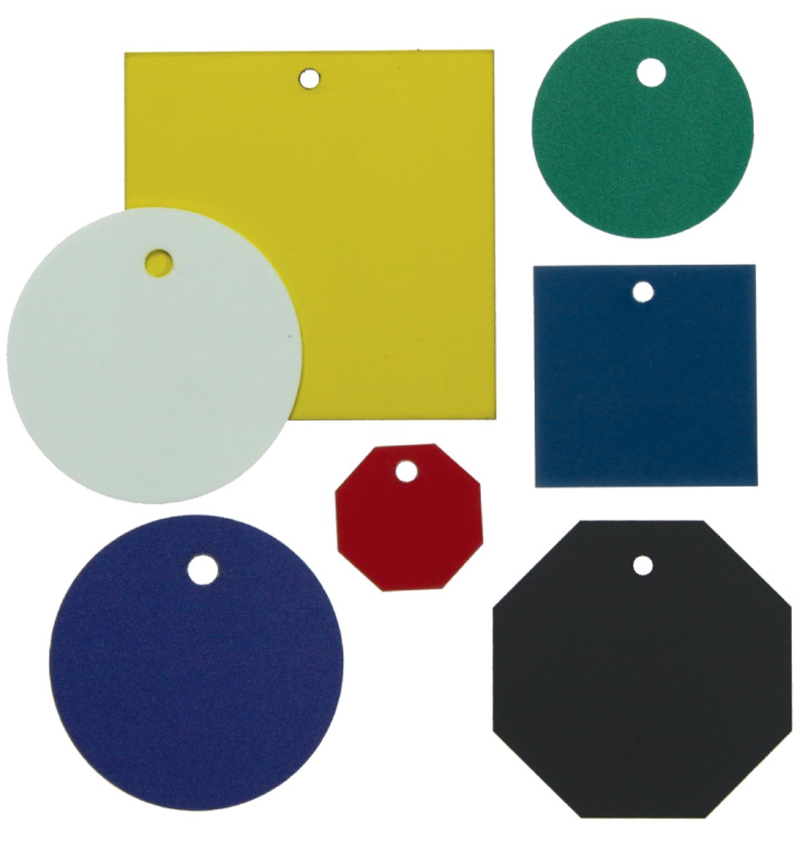 Circle 1-1//2 Diameter Accuform TDG213WT Accu-Ply Plastic Blank Identification Tag White Pack of 25