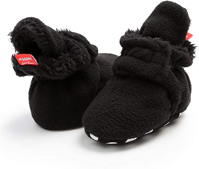 0-18M Baby Boys Girls Winter Warm Slippers Non Slip Ankle Snow Boots Crib Shoes