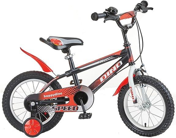 Los niños de 3 a 7 años de Edad, niños y niñas Bicicleta Bicicleta de Coche de 12/14/16 Pulgadas (Color : Red and Black, Tamaño : 16 Inches): Amazon.es: Hogar