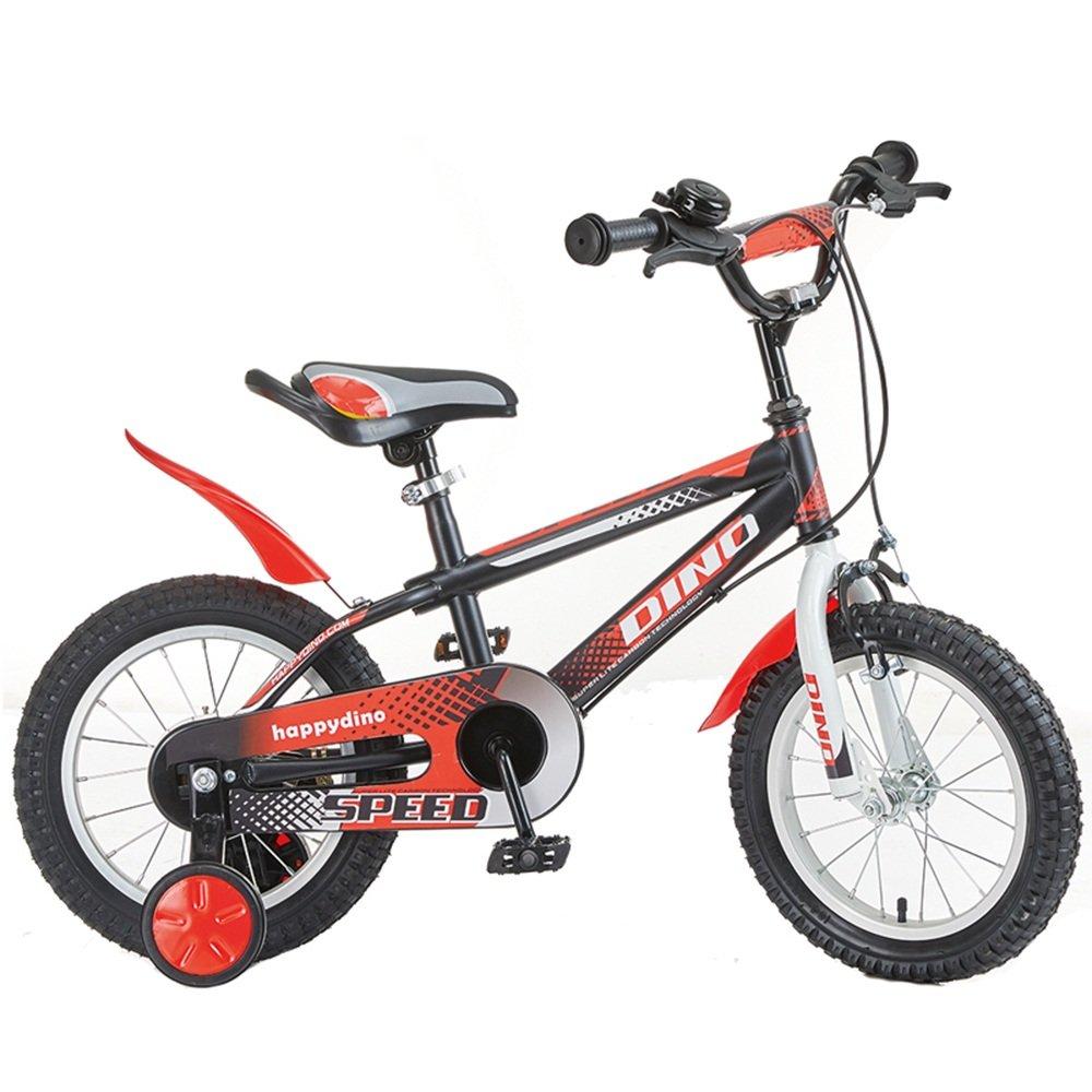 子供3歳から7歳の少年少女の自転車12/14/16インチの赤ちゃんの車の自転車 ( 色 : Red and black , サイズ さいず : 14 inches ) B07CNFSQZG 14 inches|Red and Black Red and Black 14 inches