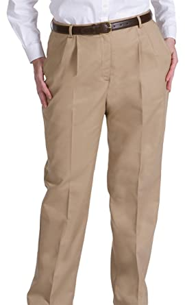 9bc66b4c48e Edwards Garment Women s Cotton Business Casual Chino Zipper Pant at Amazon  Women s Clothing store