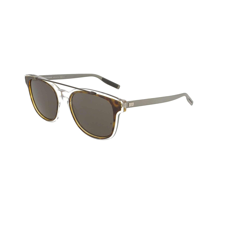 4a6107ad9e Amazon.com  Dior Homme 211S LCQ Havana Crystal Matte Ruthenium 211S  Wayfarer Sunglasses Len  Clothing