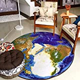 HOMEE round Coffee Table Carpet Nonlip Absorbent Mats Living Room Coffee Room Bedroom Study Diameter,E,Diameter160Cm(63Inch)