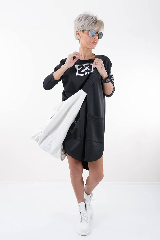 LOCKERROOM Black Loose Long Sleeves Daywear Maxi Extravagant Tunic