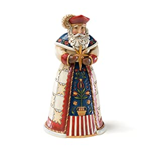 Jim Shore Heartwood Creek Polish Santa Stone Resin Figurine, 7""