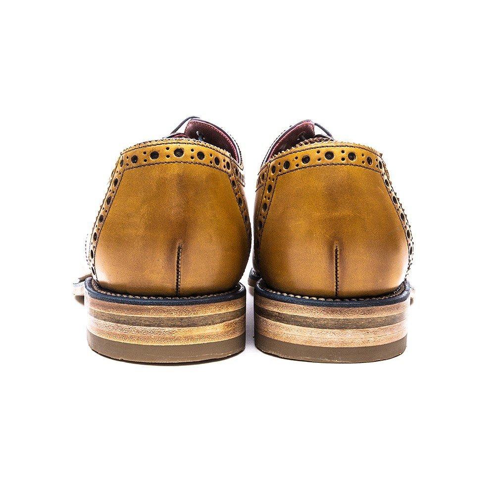 Loake Foley Mens Mens Mens Formale Spitzen Sich Schuhe 10 UK 44 EU Tan Burnished d06527