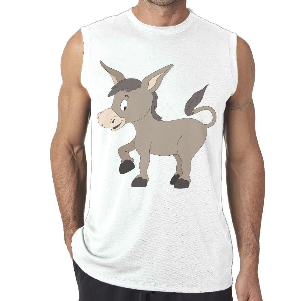 Oopp Jfhg Tanks Tops Sleeveless Shirt Fit Men Cute Donkey Casual
