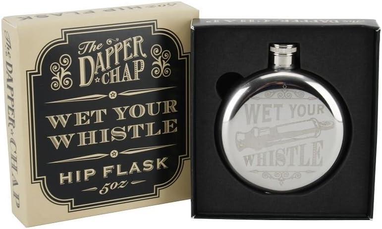 The Dapper Chap Wet Your Whistle 5Oz Hip Flask