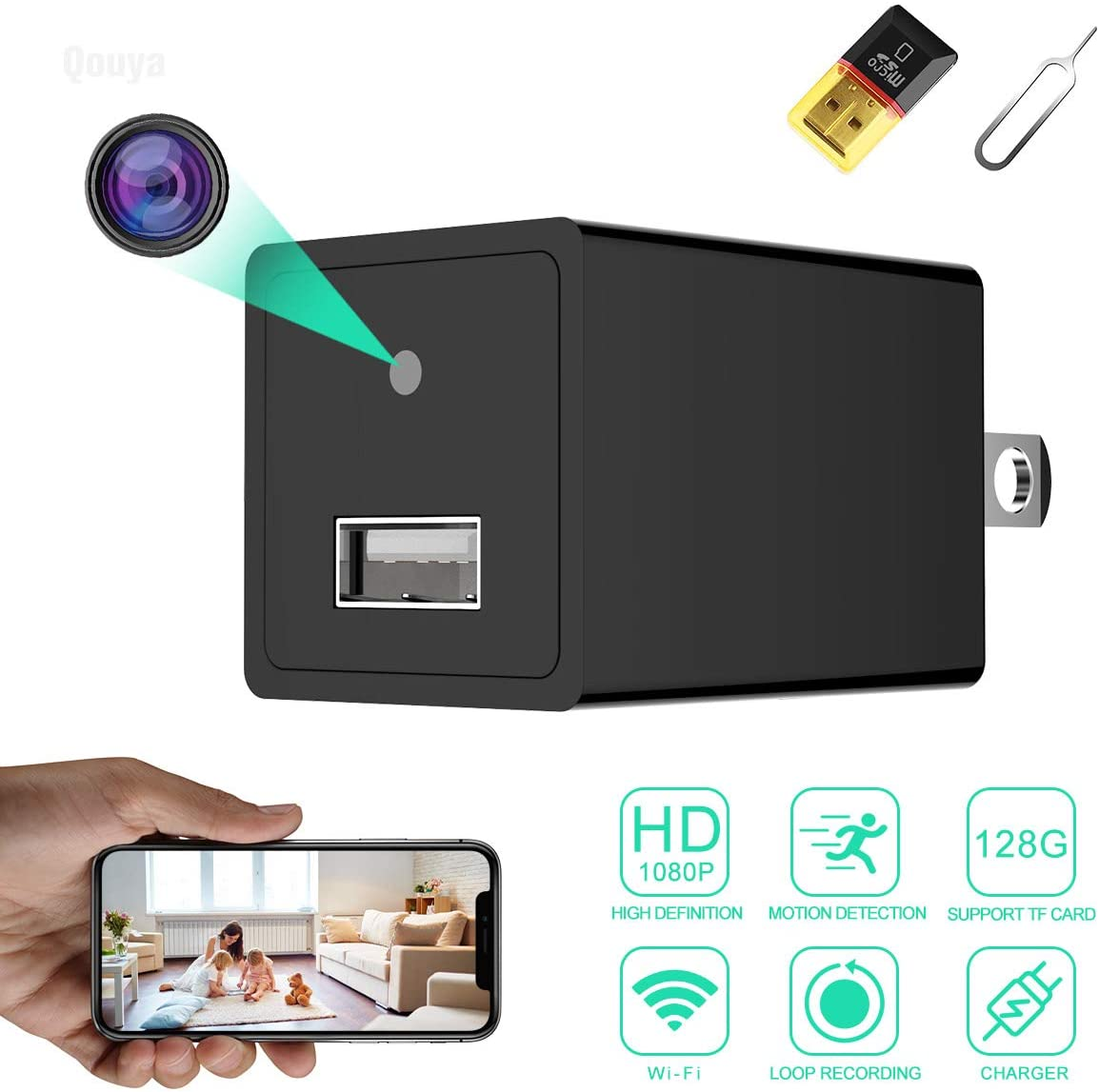 Hidden Camera 1080p spy Camera Hidden Wireless Hidden IP Camera