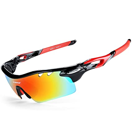 Polarized Cycling Glasses Bike Goggles Sports MTB Sunglasses UV400 5 Lens TR90