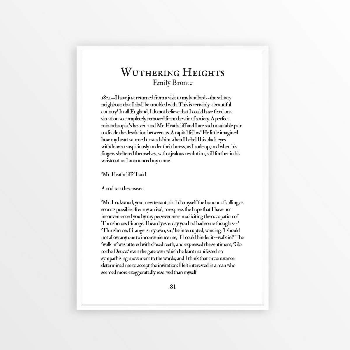 Amazon Wuthering Heights Emily Bronte Book Page Quote