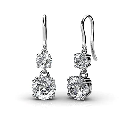 3a64170e87 Buy Yellow Chimes Crystals from Swarovski Drop Down Platinum Plated Crystal  Earrings for Women and Girls Online at Low Prices in India | Amazon  Jewellery ...