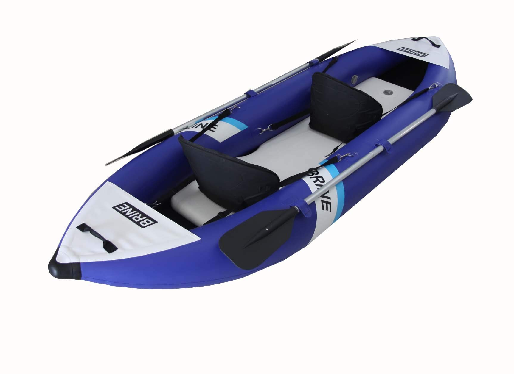 Brine Marine Inflatable Kayak 2 Person Super Stable, Allows You to Stand up and Fish. Large Capacity of 550lb. 10'6'' Long. Compact Storage Bag, Pump, Paddles & Accessories Included by Brine Marine