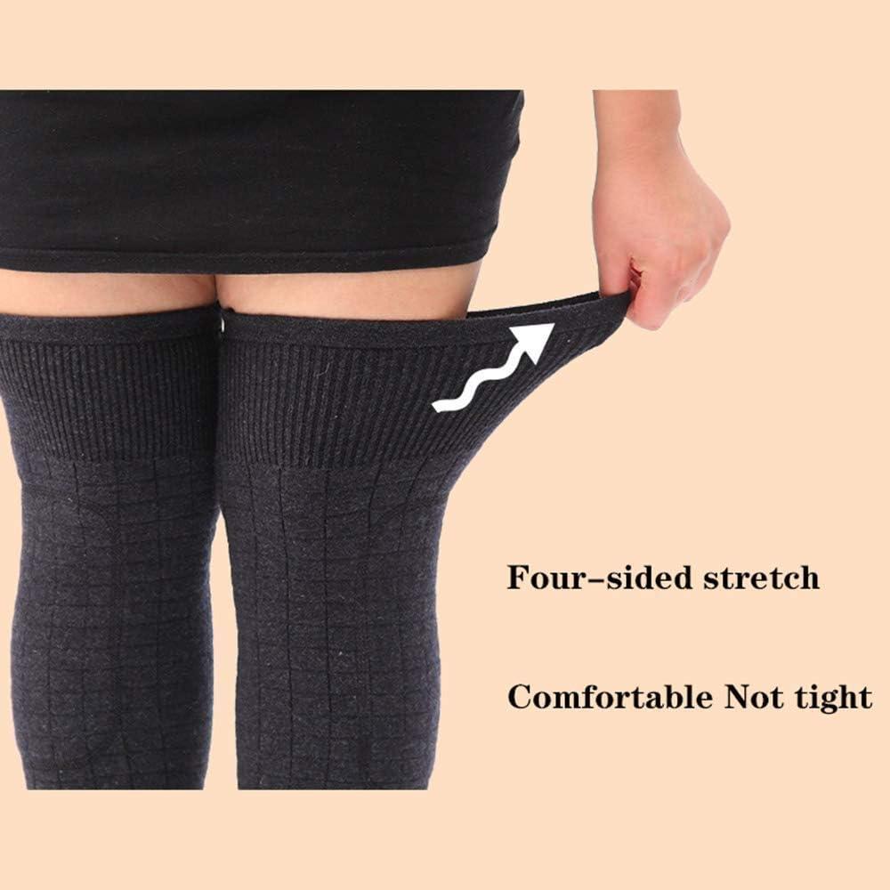 EAHKGmh Unisex Wolle Knieorthese Pads Winter warme Thermal Knielinge Sleeve for Frauen M/änner Plus Fett XL Beinlinge Size : XL