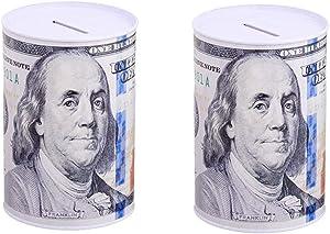 2 Pack $100 Dollar Bill Piggy Bank 6