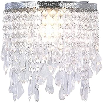 Cozzy modern acrylic crystal pendant lamp shade seven different cozzy modern acrylic crystal pendant lamp shade seven different crystal drops decorative chrome frame mozeypictures Gallery
