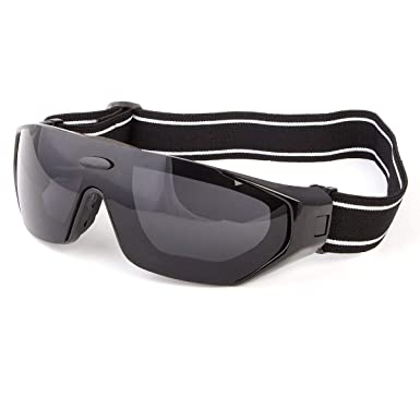 85299a3da7 Amazon.com  Large Wind Resistant With Strap Sunglasses Motorcycle Riding  Glasses Foam Padded  Clothing