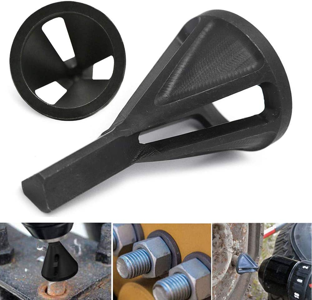 Noir outil d/ébavurage pour taille 8-32 boulons forets /à /ébavurer Lot de 2 outils de chanfreinage externes en acier inoxydable
