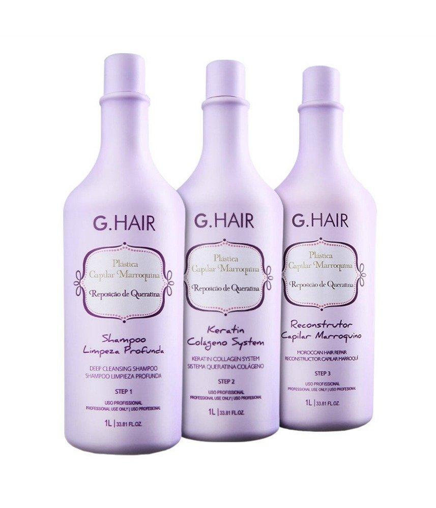 G.HAIR Plastica Capilar Marroquina Botohair Brazilian Keratin Smoothing Treatment 1 Liter
