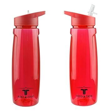 Deportes Botella De Agua 750 ml Plástico ecológico y sin BPA Cubierta atornillable y Prueba de