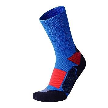 GUANGBO Invierno Calcetines Tubo Medio Hombre Toalla Inferior Calcetines Deportivos Secado Rápido Elite Calcetines De Baloncesto