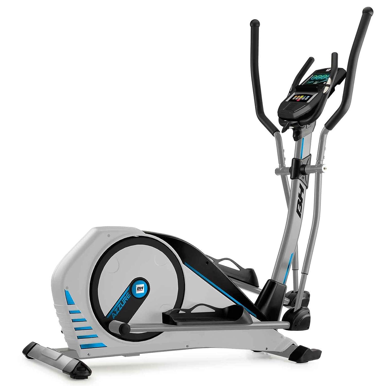 BH Fitness Crosstrainer Ellipsentrainer AZZURE TFT-14 kg Schwungmasse-bis 125 kg Nutzergewicht-Pulsprogramme-Wattprogramm-Touch&Fun Technologie-G2362TFT