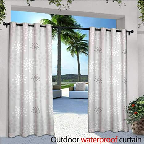 Swell Amazon Com Cobedecor Grey And White Outdoor Blackout Beutiful Home Inspiration Papxelindsey Bellcom