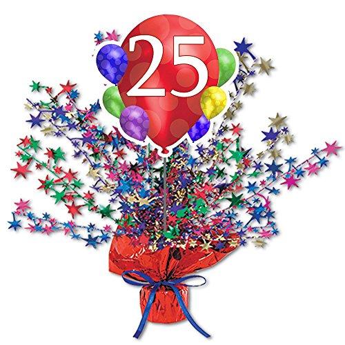 25TH BALLOON BLAST (Centerpiece Ideas For Birthday Tables)