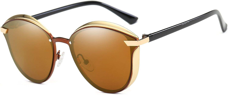 FEISEDY Stylish Polarized Women Driving Sunglasses Vintage Round Design B2418