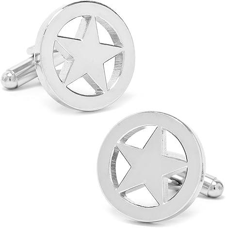 Half Ball Golden Silver Star Cuff links Round Cuff links Small star cuff links Star Cuff links Star Formal wear Vintage Cuff links