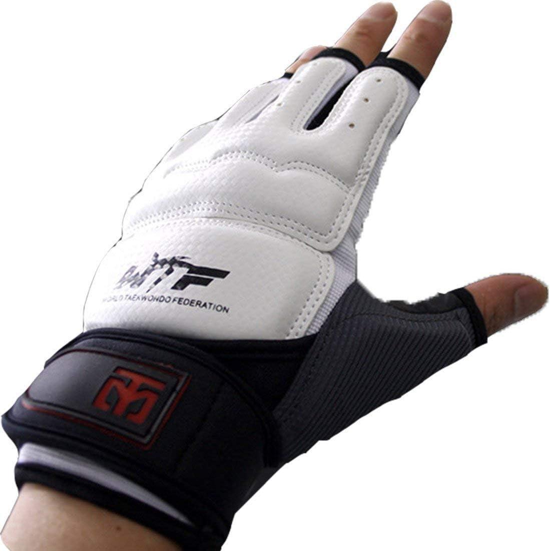 Martial Arts Cloth Hand Protector Karate Taekwondo MMA//Fist Guard White