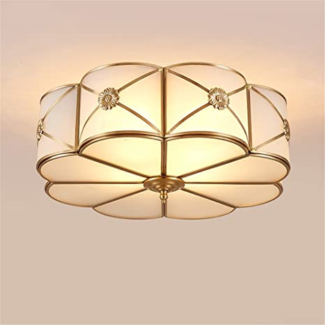 Modern Led Ceiling Lights Foyer Copper Lamparas Vintage E27 Lamp Ceiling for Living Room Bedroom Home