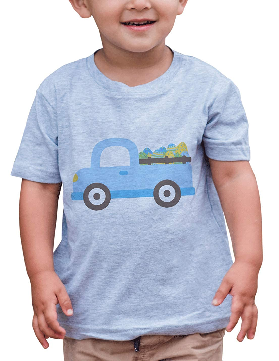 7 ate 9 Apparel Boys Easter Truck T-Shirt