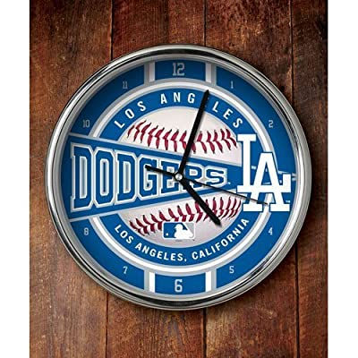 Los Angeles Dodgers Chrome Clock by Memory Company