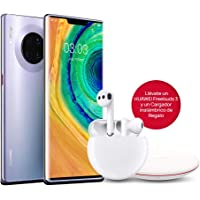 "HUAWEI Mate30 Pro - Smartphone con Pantalla Curva de 6.53"" (Kirin 990, 8 + 256 GB, Cuádruple cámara Leica, Batería de 4500 mAh, EMUI10), Color Space Silver + Freebuds 3 + Wireless Charger"
