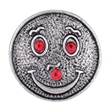 Wholesale Vocheng 18mm Interchangeable Jewelry 2 Colors Clown Button Vn-101620 Pack of 20pcs (Red)