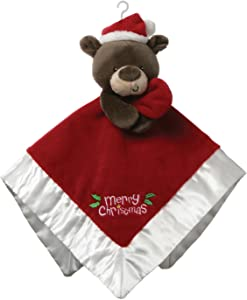 "GUND Baby Merry Christmas Santa Bear Lovey Plush Blanket, 12"", Red"