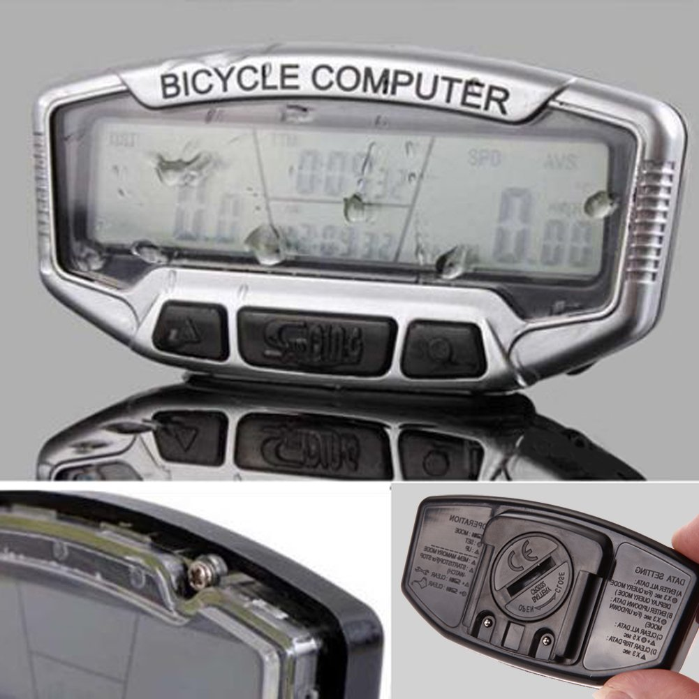 Bicycle Bike Cycling LCD Computer Odometer Speedometer Velometer Backlight