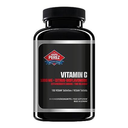 Vitamina C 1000 mg + Bioflavonoides - Liberado en el tiempo - 100 tabletas veganas