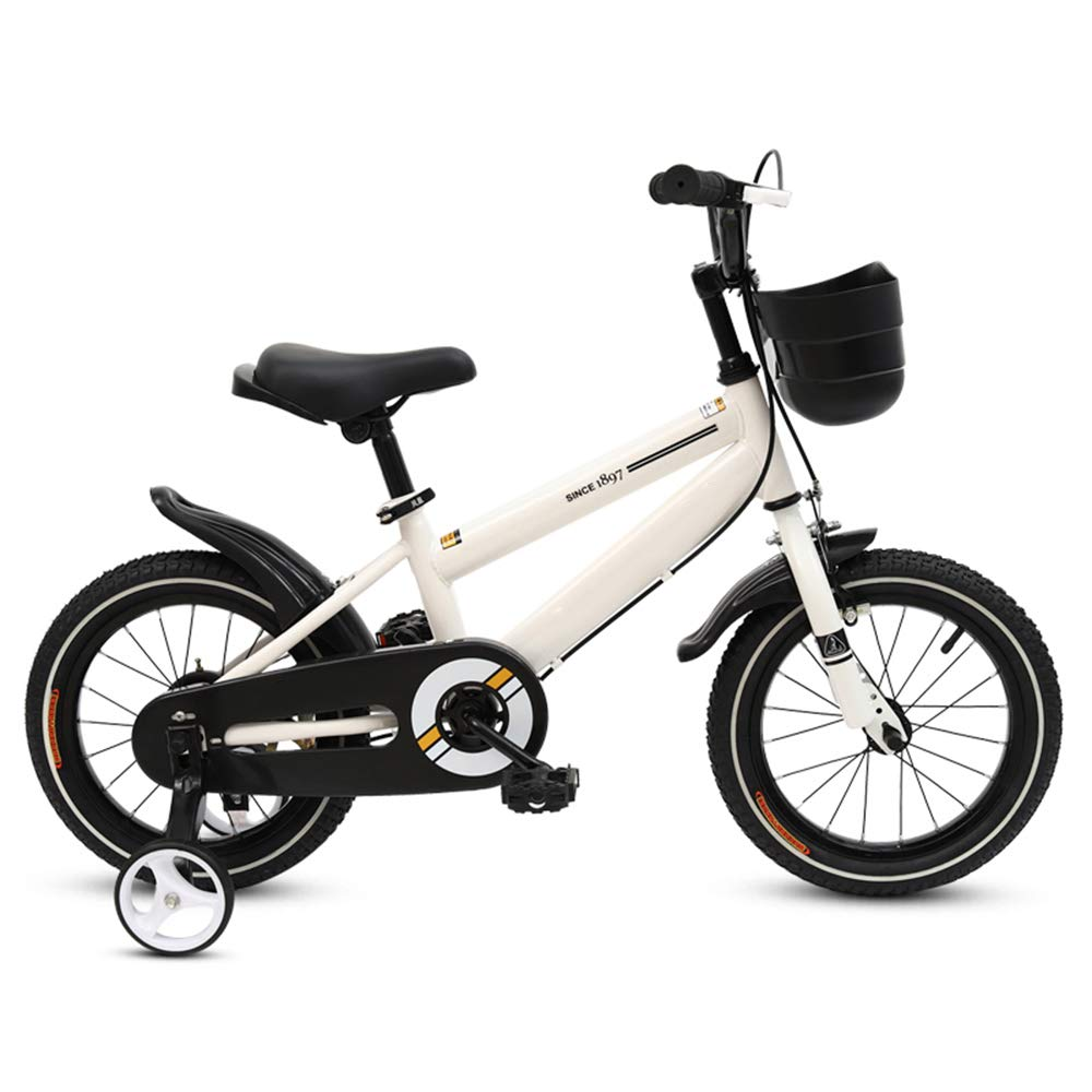 White 16 inch Kids' Bikes DUO Freestyle, Adjustable Seat and Handle 12-14-16-18- Inch Wheels,3 colors Available