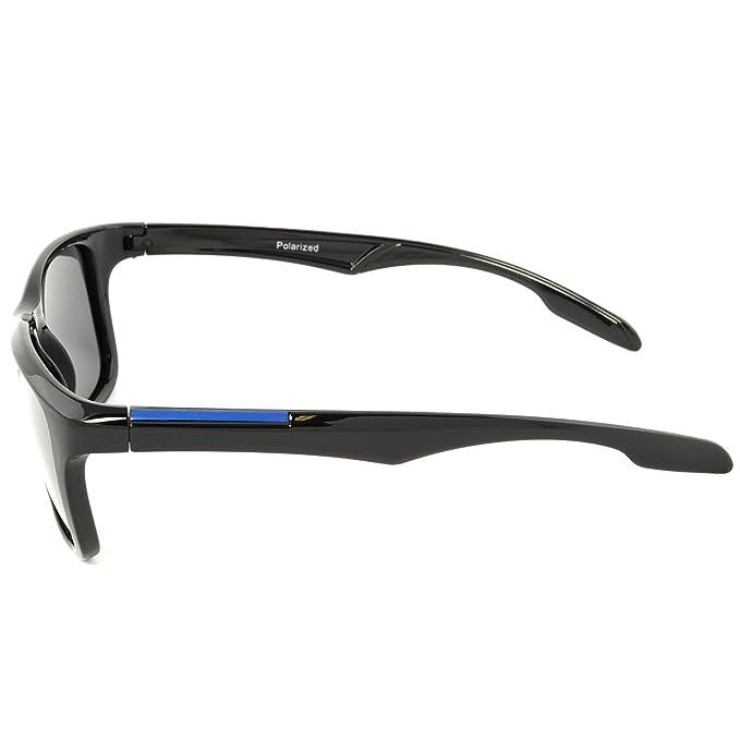 City Vision Polarisiert Kinder Sonnenbrille Jungen Mädchen polarized 21636, Rahmenfarbe:Blau, Linsenfarbe:Schwarz