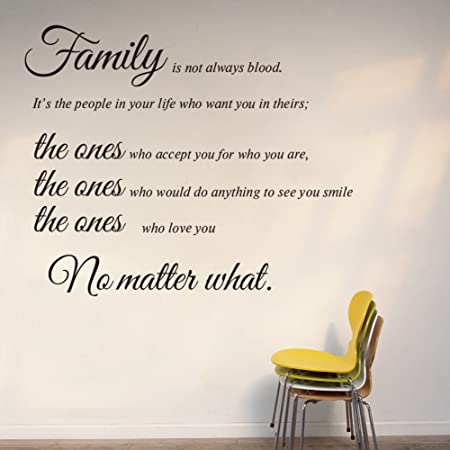 Dupin Tm Family Isnt Always Blood Vinyl Art Removable Diy Quotes